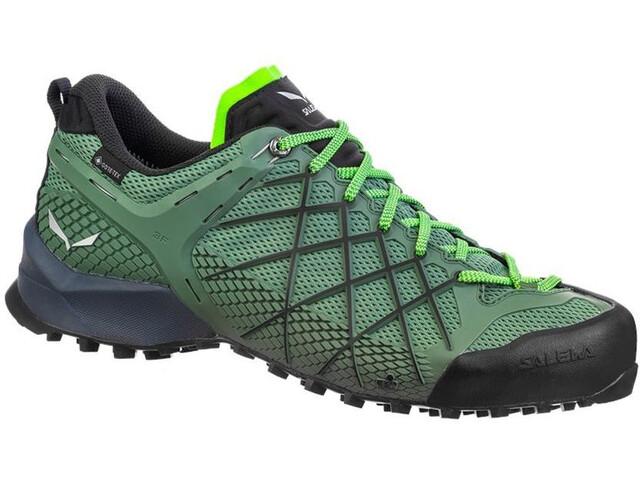 SALEWA Wildfire GTX Shoes Men myrtle/fluo green